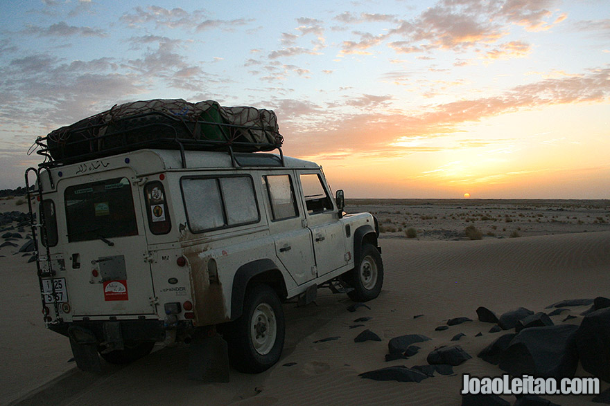 Sunset near Tmeimichat in Mauritania