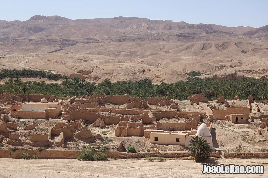 Aldeia abandonada de Tamerza, na Tunísia
