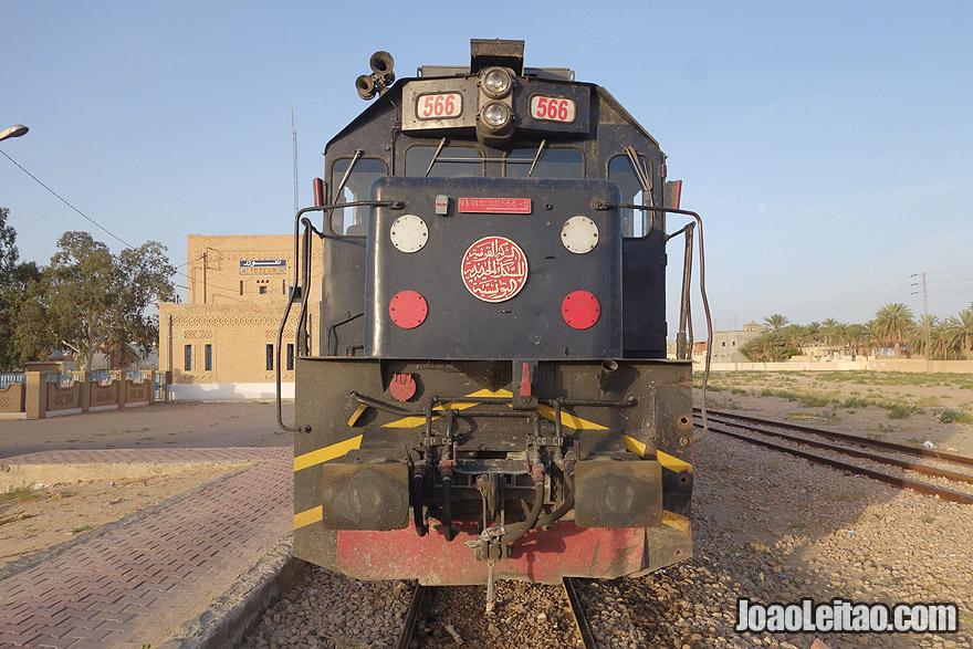 Comboio de Tunes para Tozeur, Tunísia