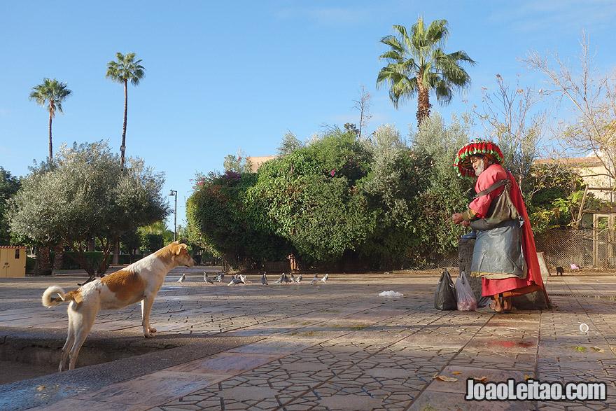 Aguadeiro em Marraquexe