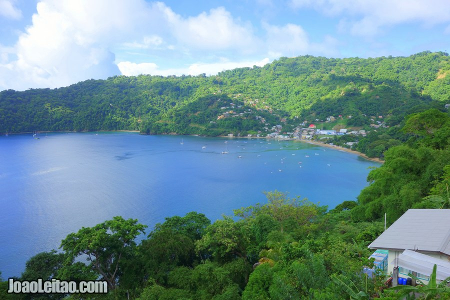 View of Charlotteville in Trinidad and Tobago