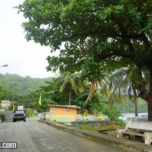 Center of Charlotteville in Trinidad and Tobago