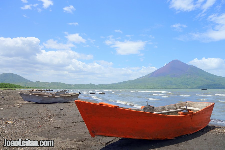 Boats in Lake Managua