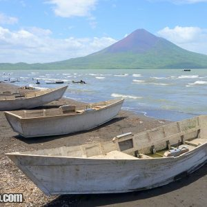 Boats in Lake Managua