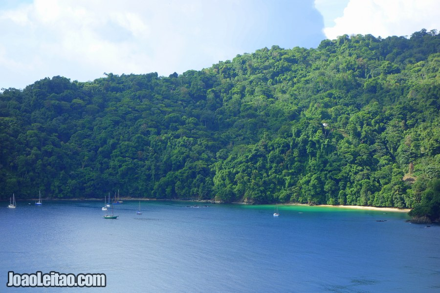 View of Pirate's Bay in Tobago Island