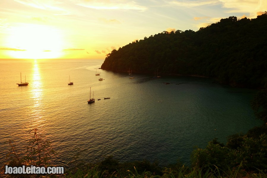 View of Pirate's Bay during sunset