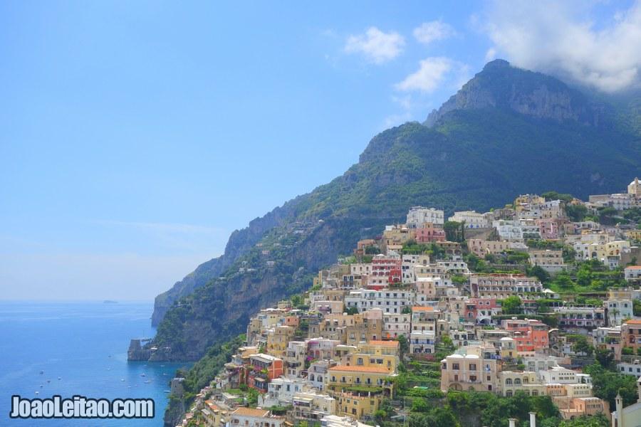 Positano town in Amalfi