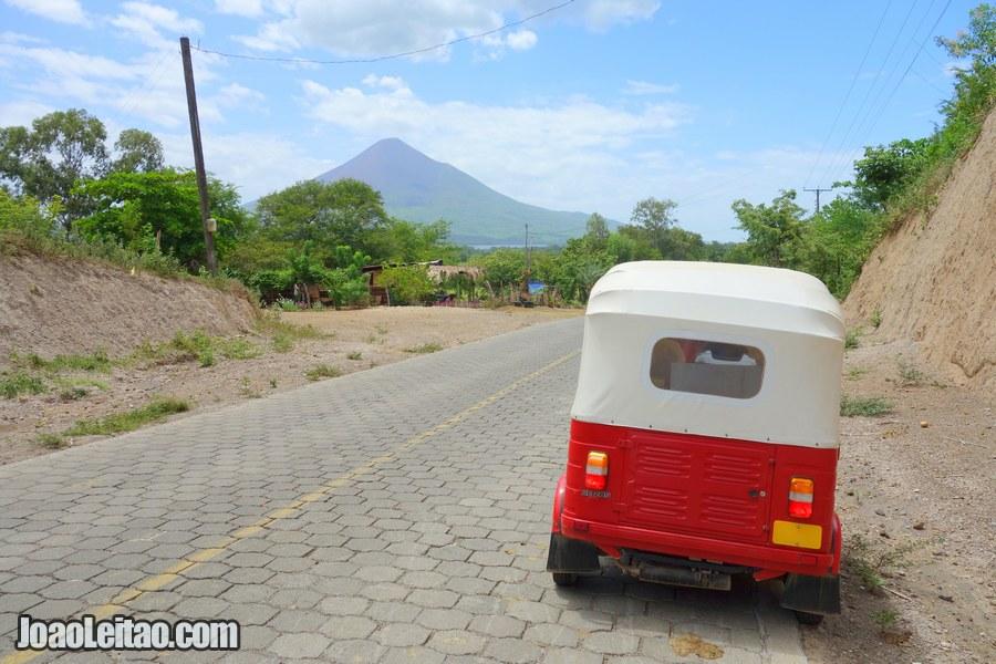 Puerto Momotombo town in Nicaragua
