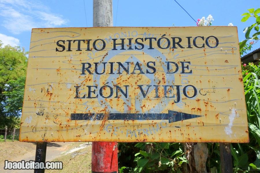 Ruins of Leon Viejo in Nicaragua