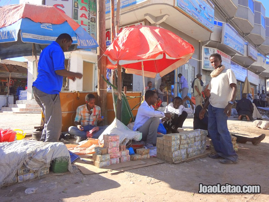Money dealers in Hargeisa - the capital of Somaliland