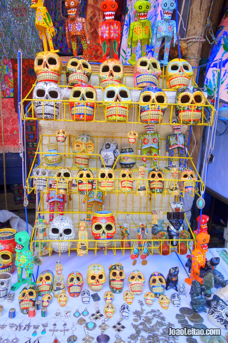 Skulls for sale in Chichicastenango, Guatemala