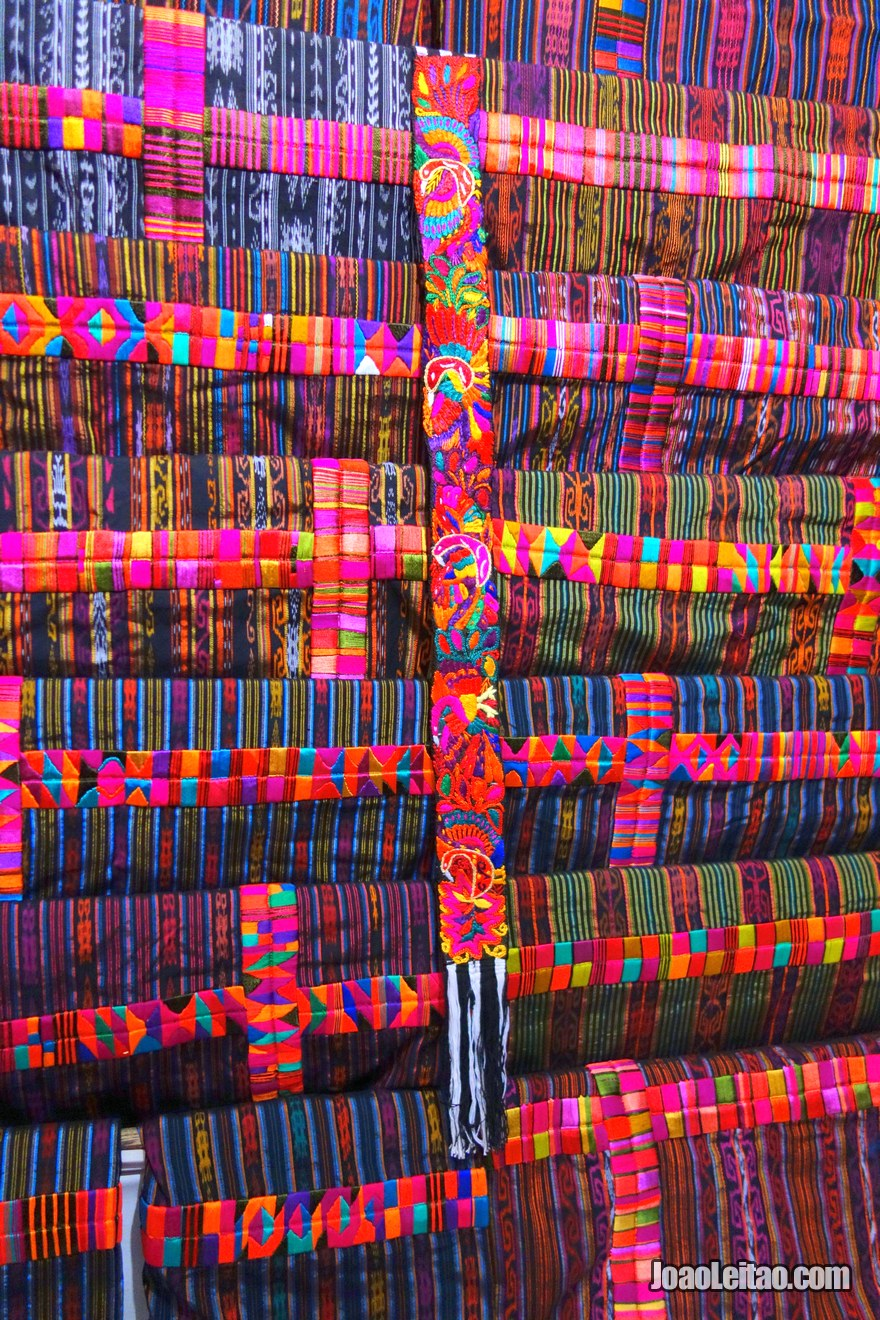 Chichicastenango traditional fabrics for sale