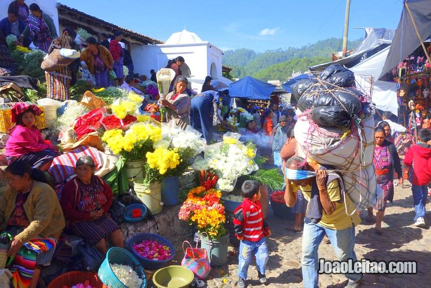 Colorful Chichicastenango Market - Guatemala