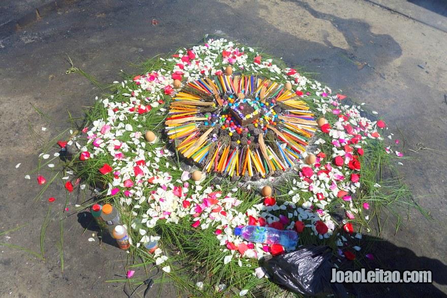 Ritual in Chichicastenango cemetery