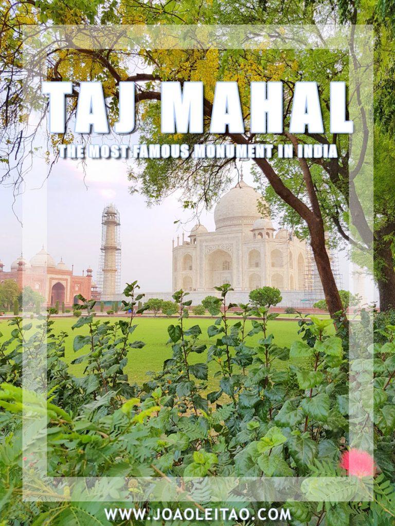 Visit Taj Mahal mausoleum complex in Agra – India