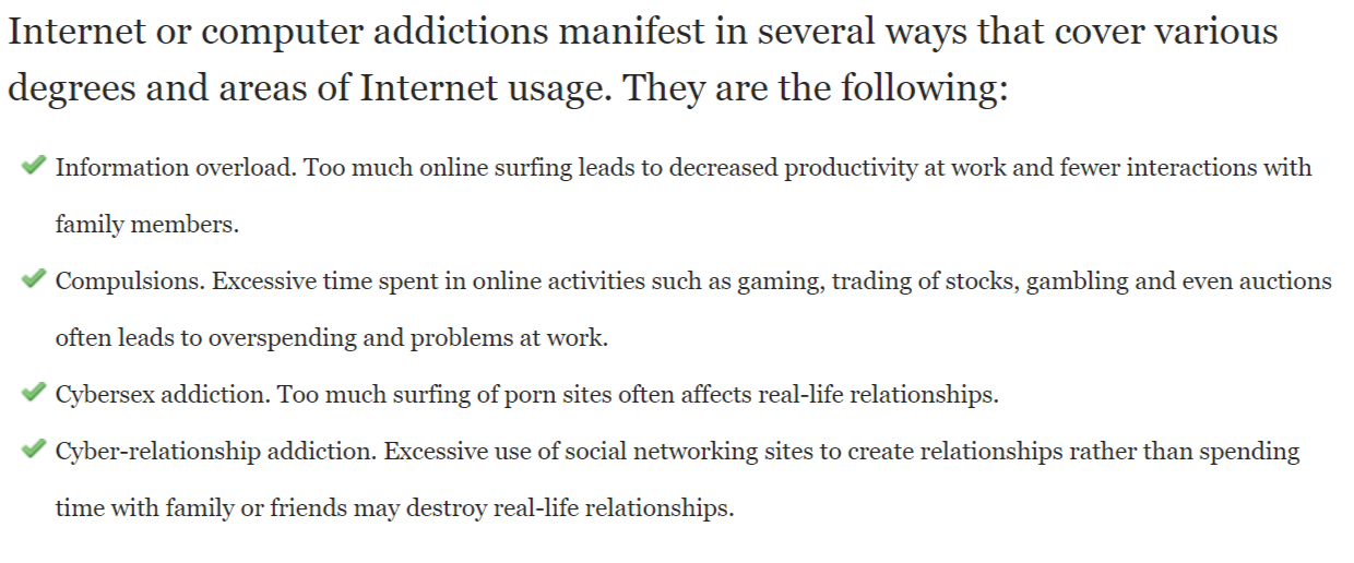 Internet or Computer Addiction