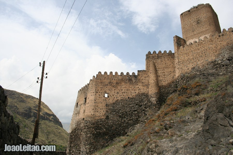 External walls of Khertvisi fort, Khertvisi Fortress in Georgia