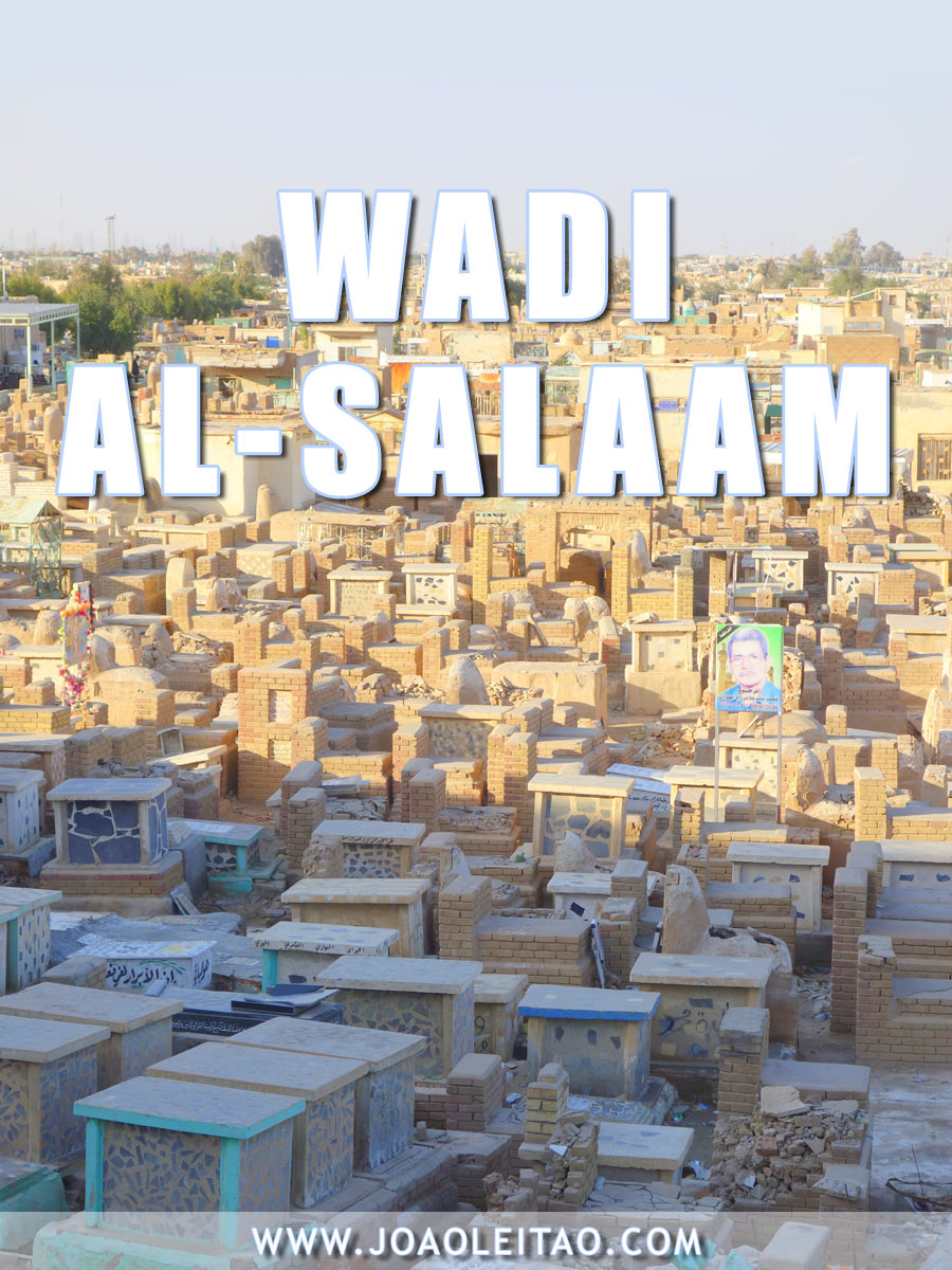 Wadi Al-Salaam cemetery, located in the Shia holy city of Najaf, is the largest cemetery in the world