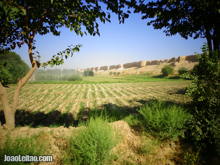 Balkh ancient defensive walls in northern Afghanistan