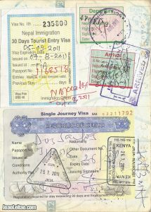 Page of a full passport