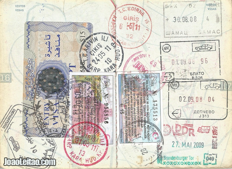 Peek Inside a Full Passport and be inspired to Travel