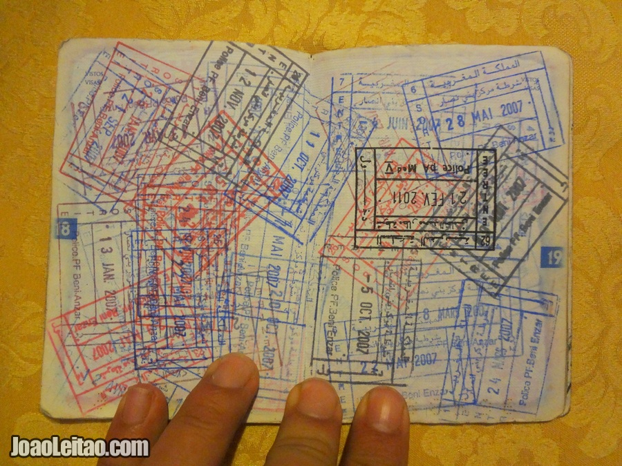 How many stamps can you fit in one passport page? Countless...