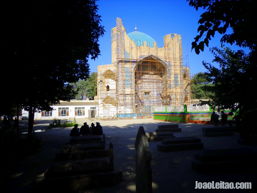 The Masjid Sabz or Green Mosque in the city of Balkh
