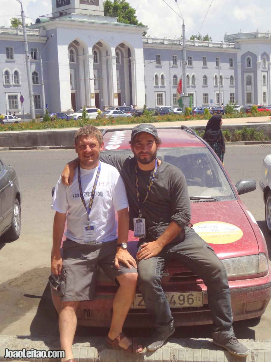 João Paulo Peixoto and João Leitão in Dushambe Tajikistan