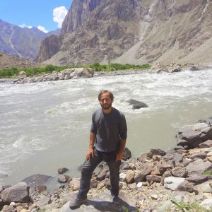 João Leitão in border of Afghanistan and Tajikistan