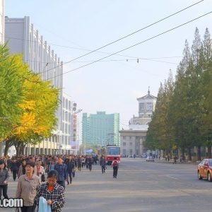 Pyongyang street near the train station