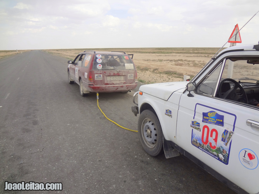 Yes we towed the German team during more than 250 km / 155 mi