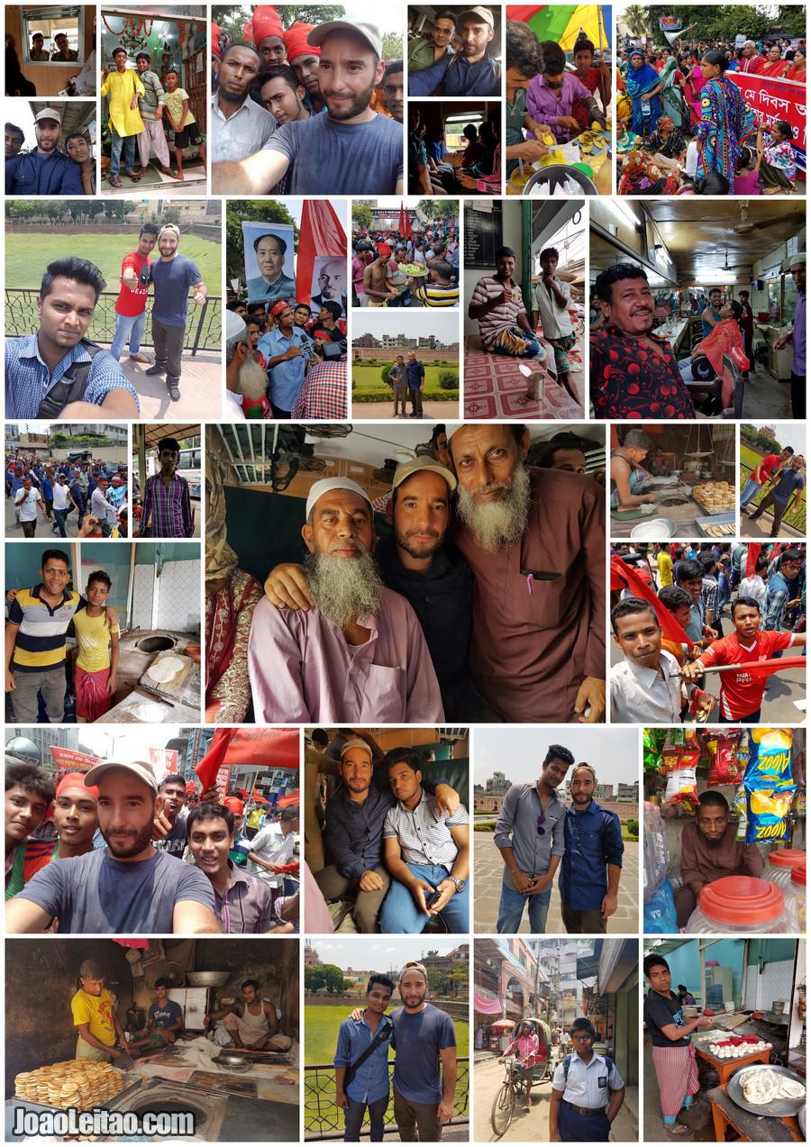 Pessoas em Daca, capital do Bangladesh