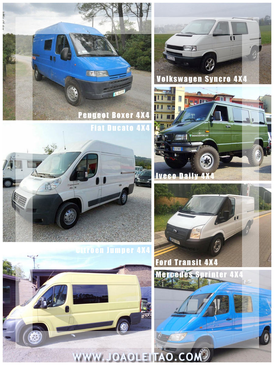 4X4 CAMPER VAN OPTIONS