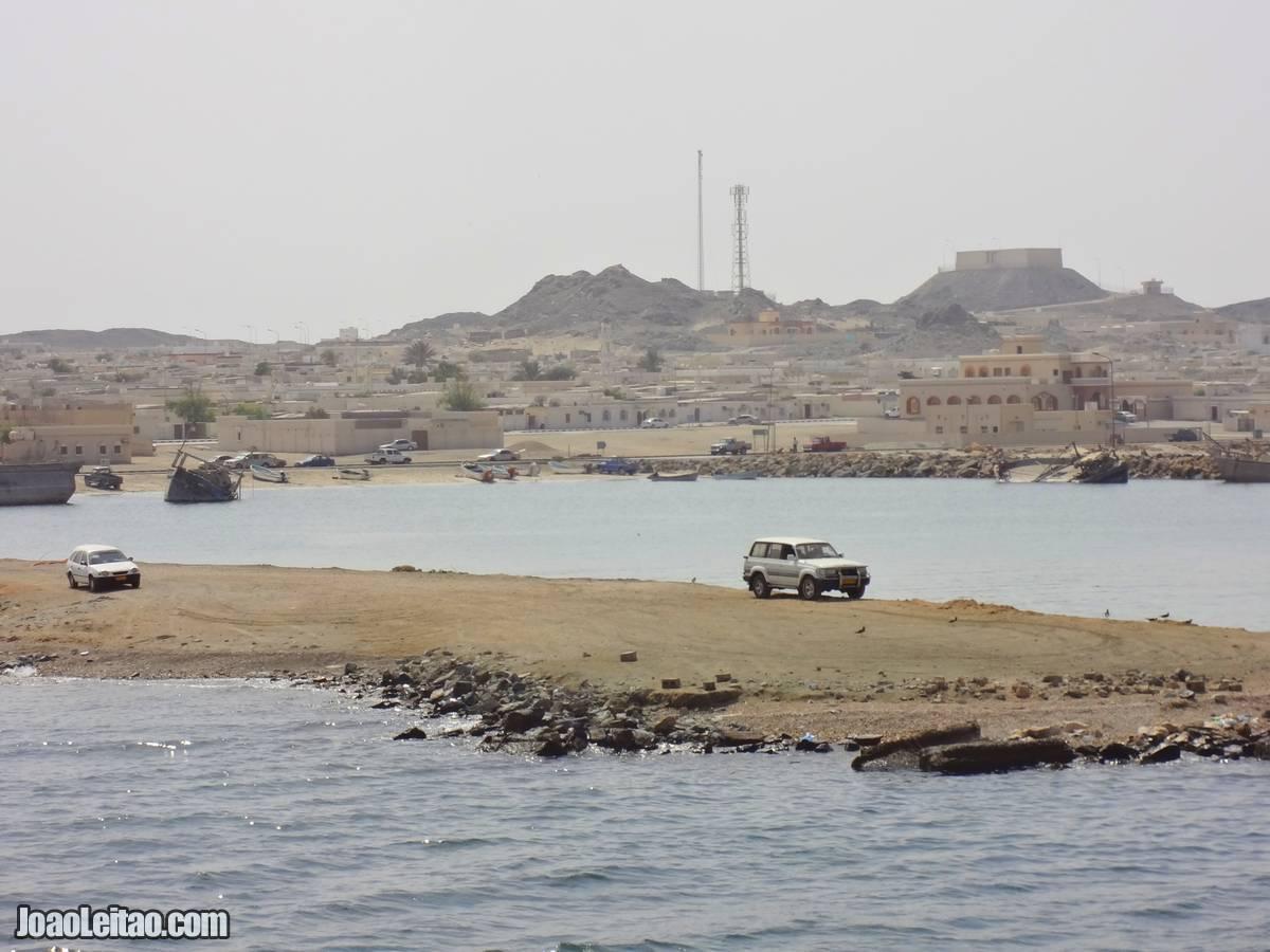 VIEW OF RAS-HILF TOWN IN MASIRAH OMAN