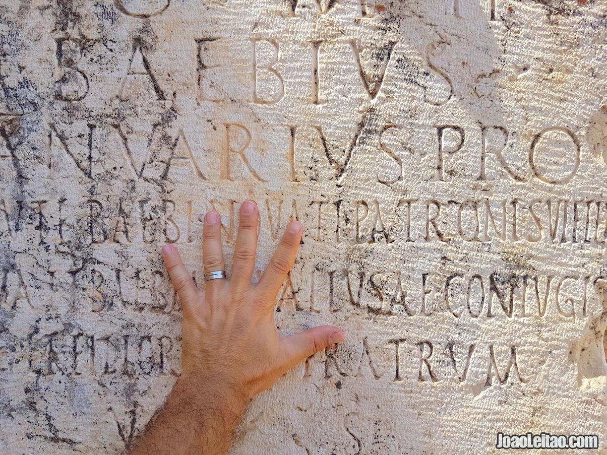 ROMAN INSCRIPTIONS IN BAALBEK