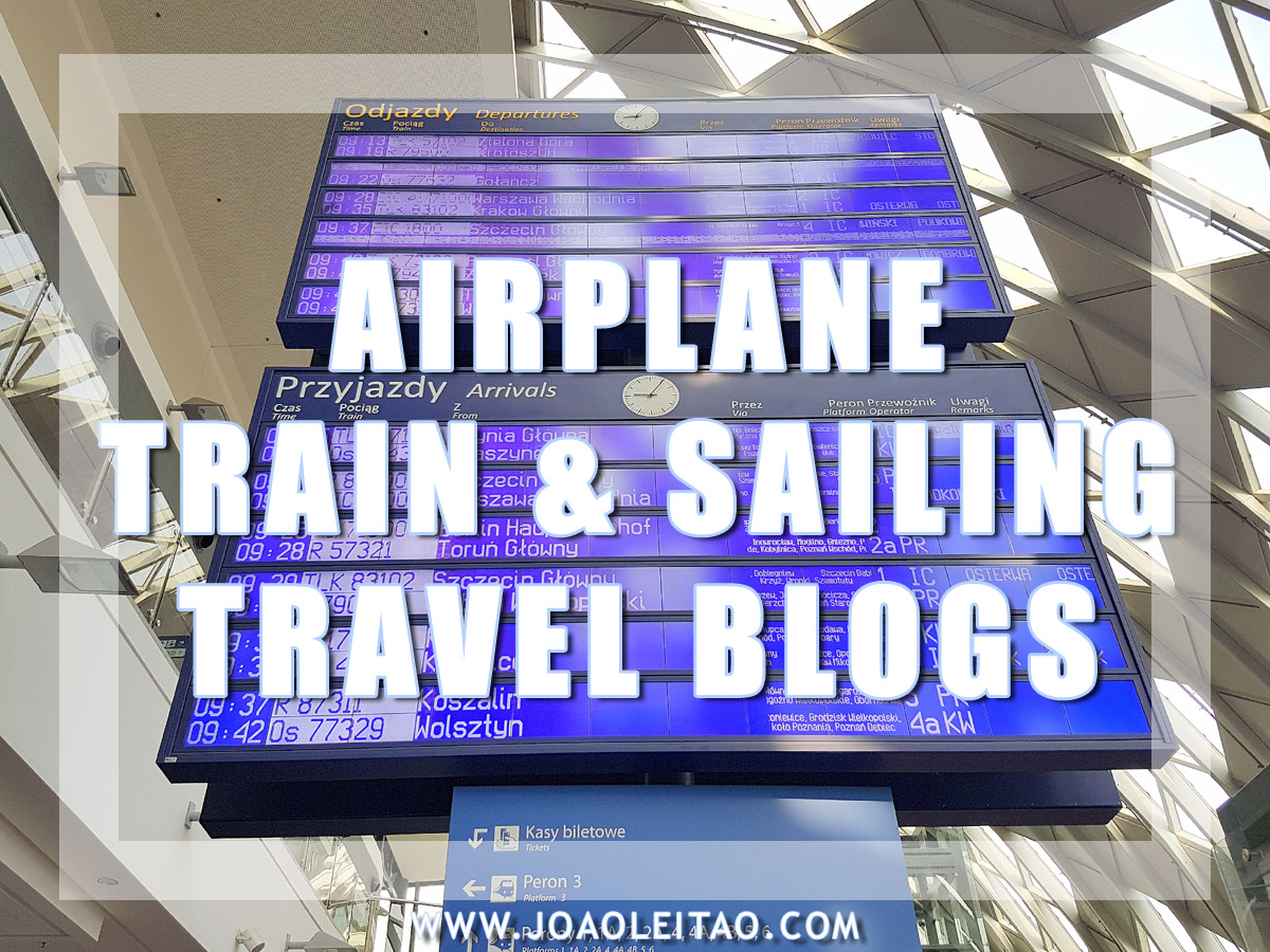 AIRPLANE, TRAIN AND SAILING TRAVEL BLOGS