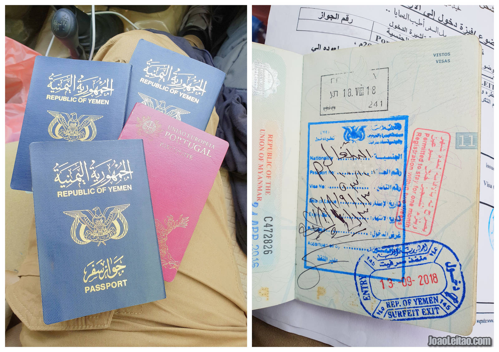 YEMEN VISA PASSPORT