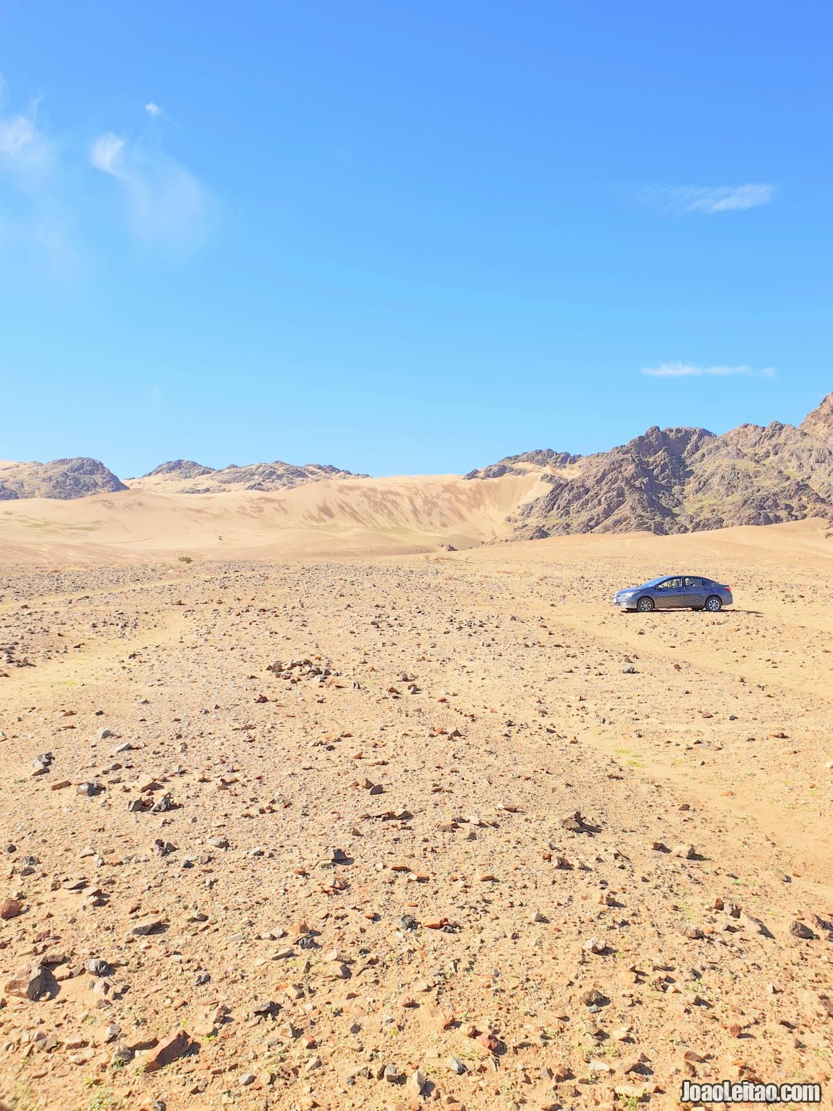 Deserto perto de Al Qusur Hadiya na Arábia Saudita