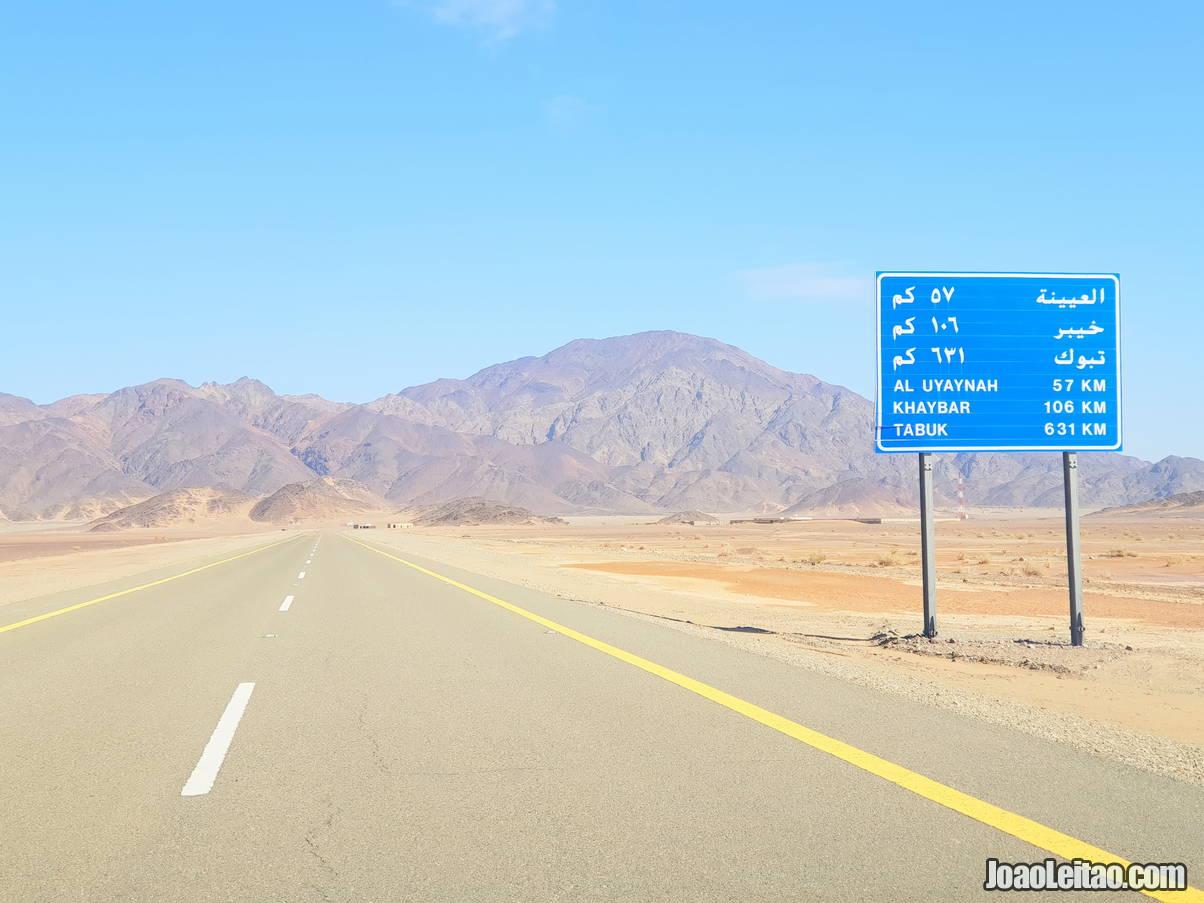 Estrada na Arábia Saudita