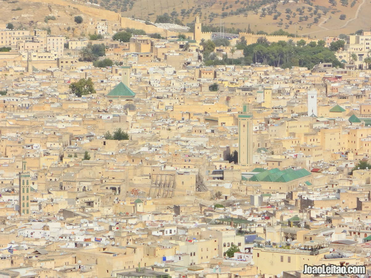 View of the Medina of Fez from Borj Nord viewpoint