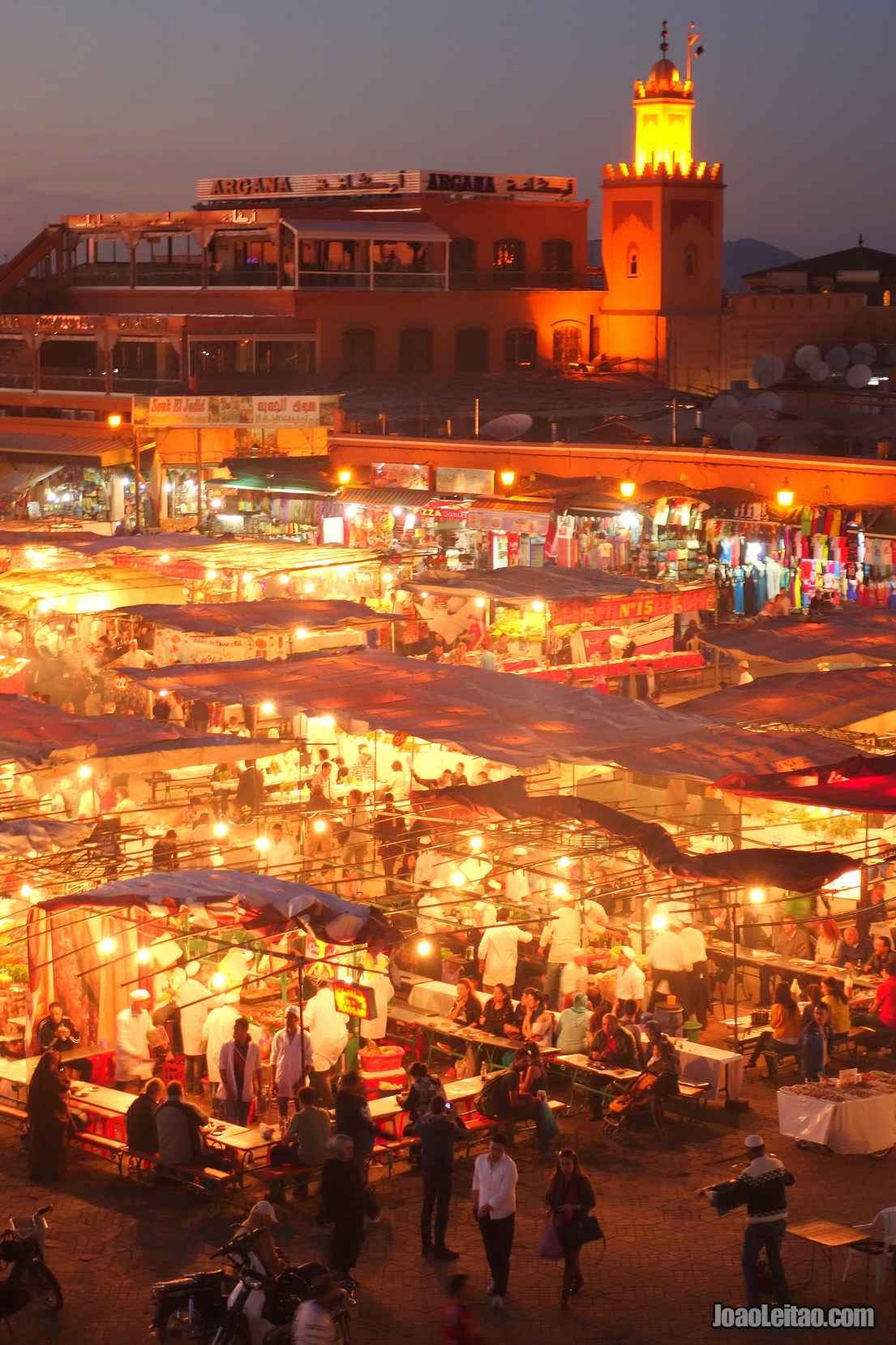 View of Jemaa el-Fna in Marrakesh