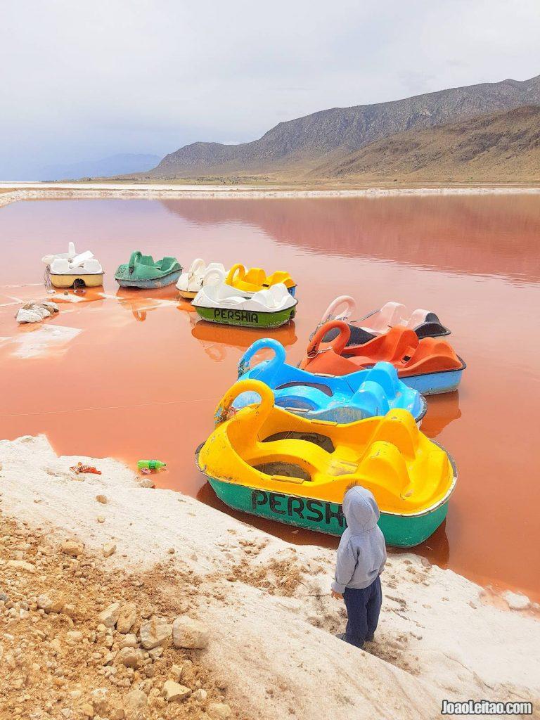 Maharloo Lake Fars Province Iran