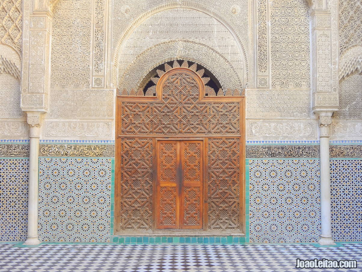 Decorated building in Fez