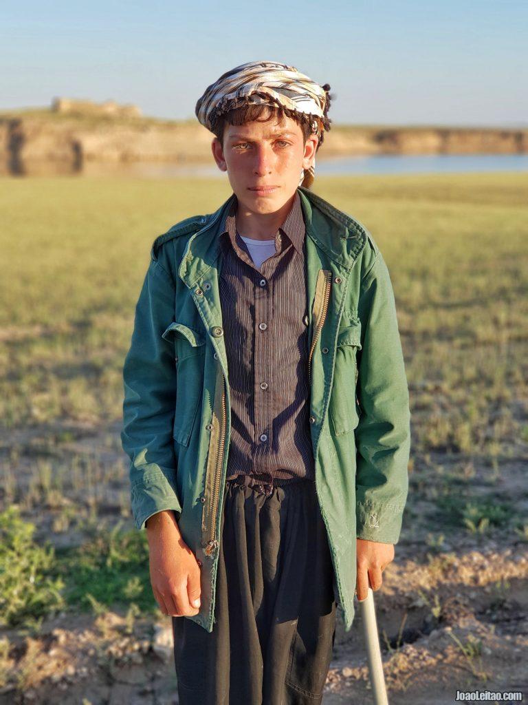 Young shepherd in Mosul Dam, Iraq