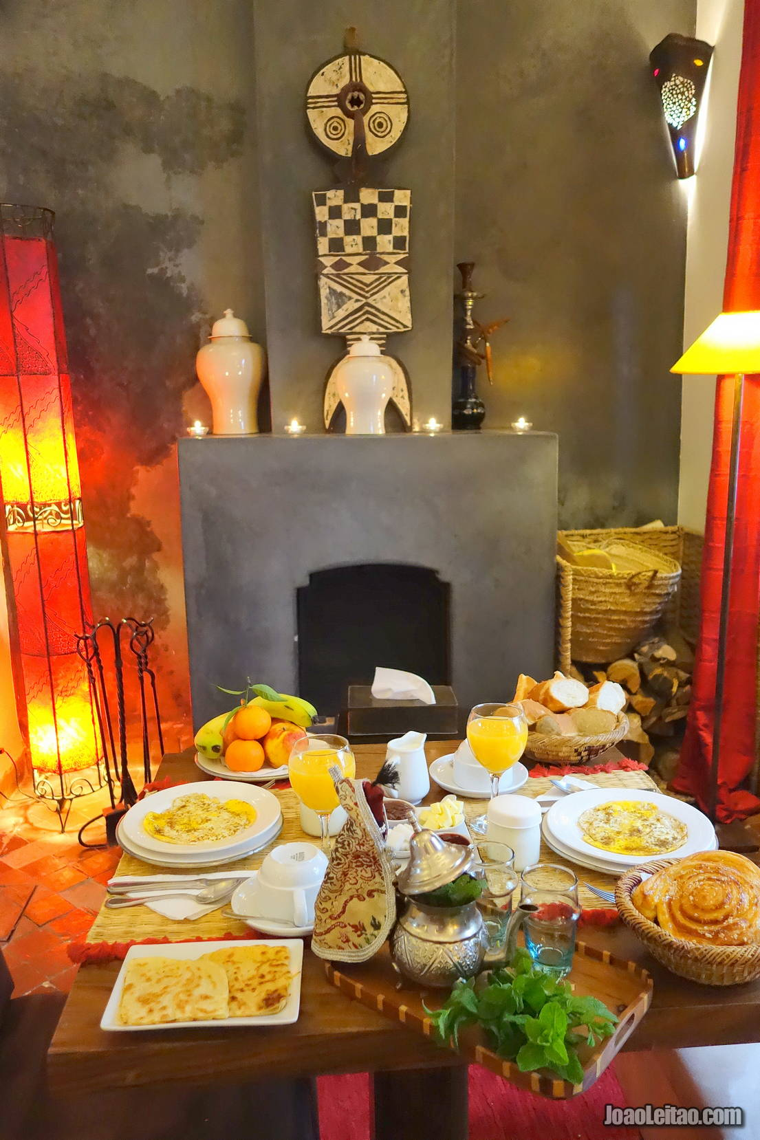 Breakfast in Dar Zaman - Riad Marrakesh Morocco