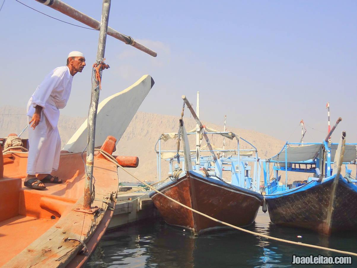Khasab port in Ras Musandam