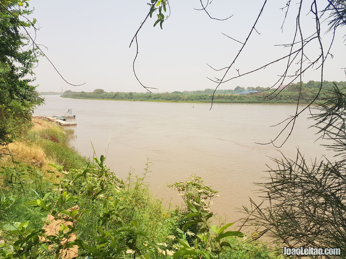 The confluence of the Blue Nile & the White Nile Rivers