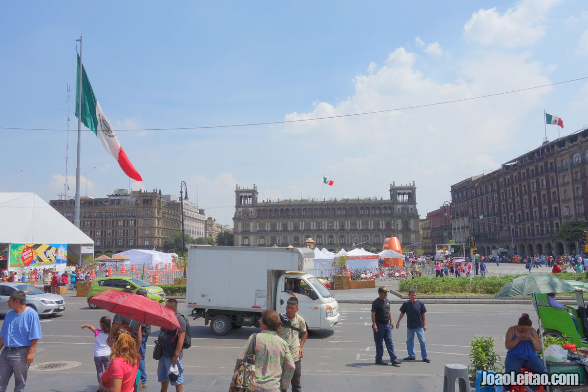 Constitution Square in Mexico City