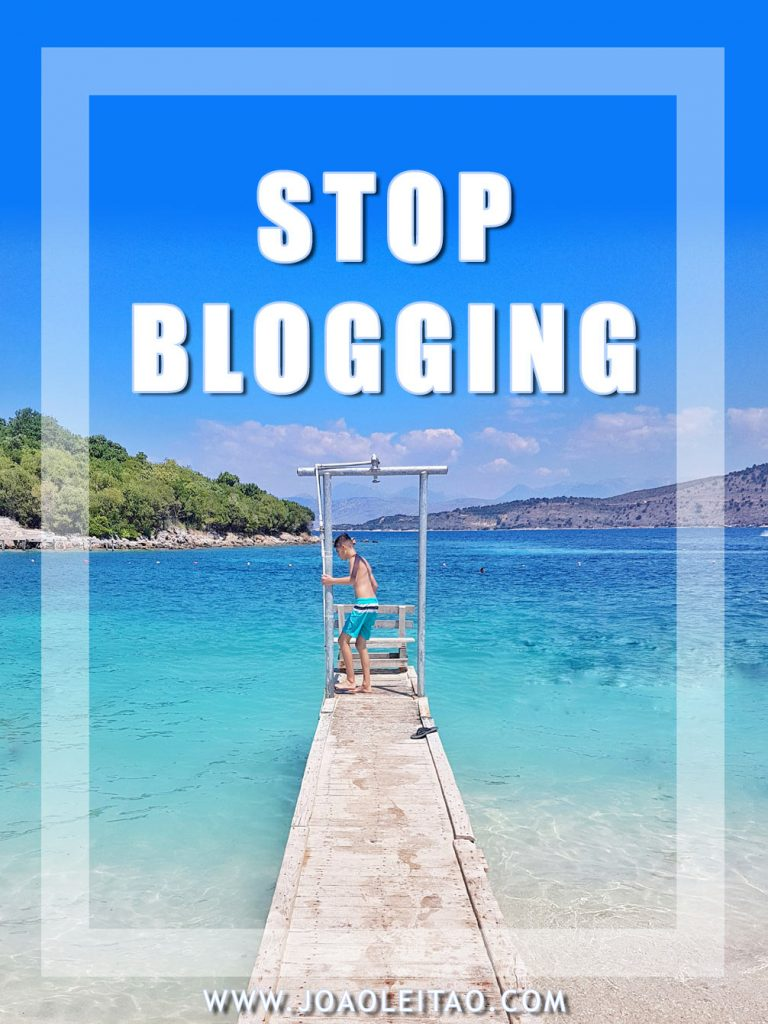 Strong reasons on why you should stop blogging today