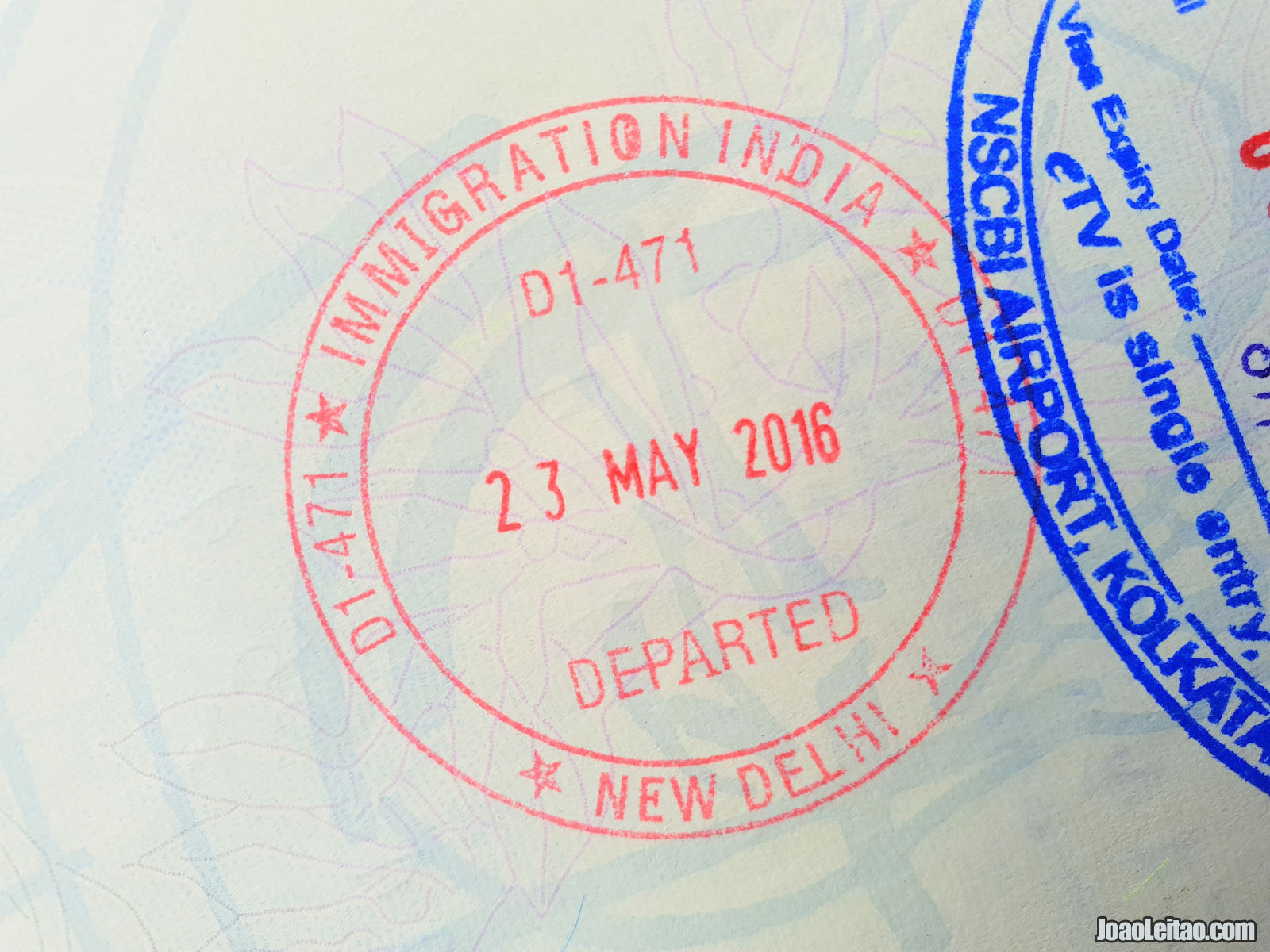 India departure stamp in Passport